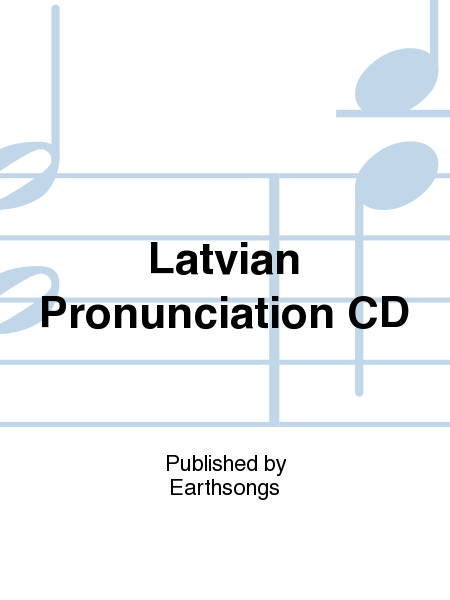 Latvian Pronunciation CD