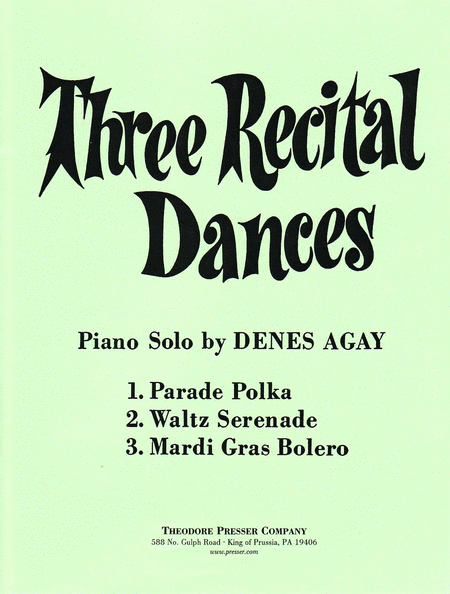 Three Recital Dances