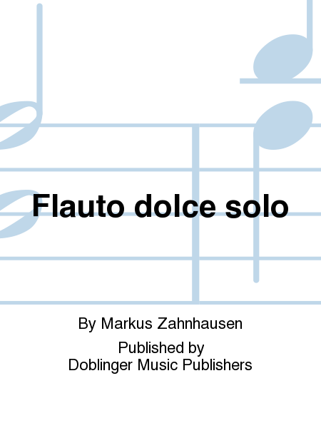 Flauto dolce solo