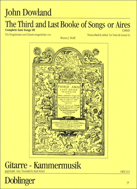 The Third Booke Of Songs Or Aires (Complete Lute Songs Iii) & Complete Lute Songs Iv-Supplement
