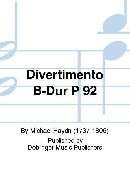Divertimento B-Dur P 92