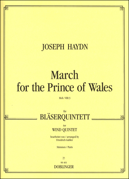 March for the Prince of Wales Hob VIII:3