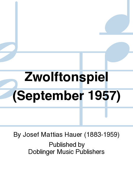 Zwolftonspiel (September 1957)