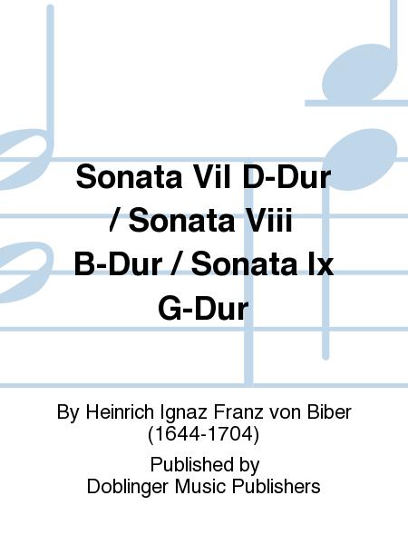 Sonata Vil D-Dur / Sonata Viii B-Dur / Sonata Ix G-Dur