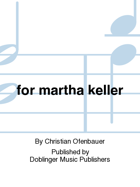 for martha keller