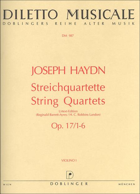 Streichquartette op. 17 / 1-6 Bandausgabe
