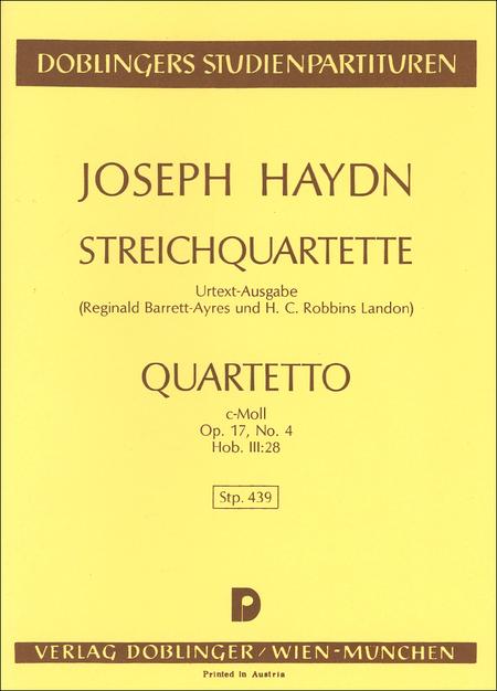 Streichquartett c-moll op. 17 / 4