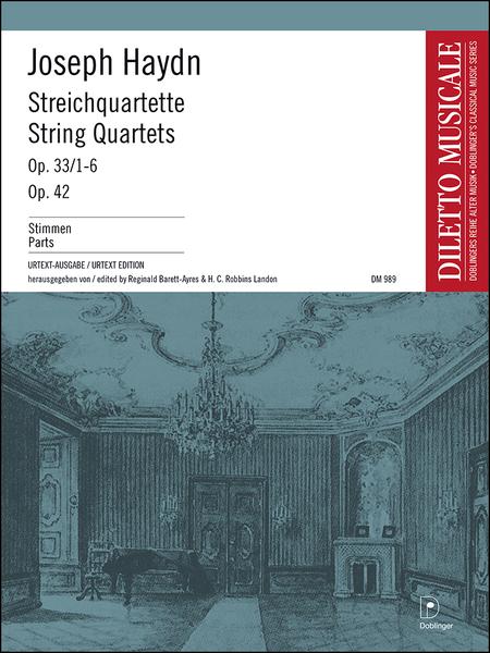 Streichquartette op. 33/1-6 + op. 42 Bandausgabe