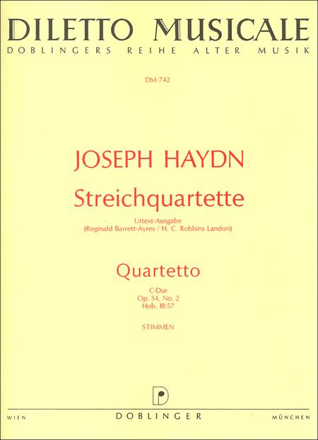 Streichquartett C-Dur op. 54 / 2