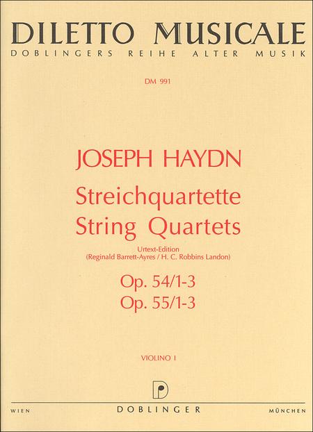 Streichquartette op. 54 / 1-3 + op. 55 / 1-3 Bandausgabe