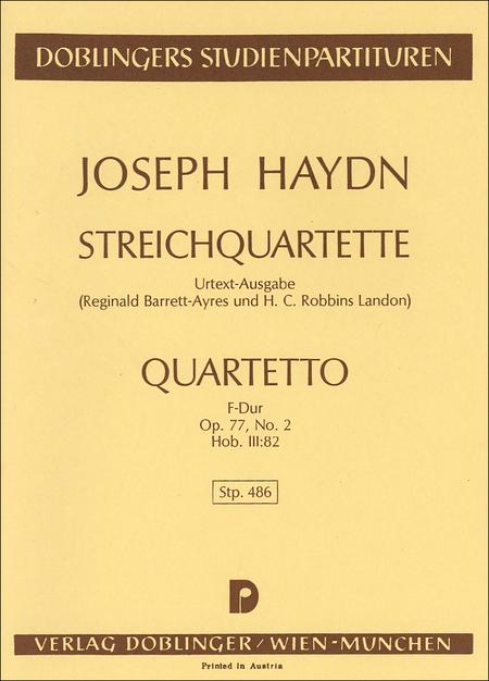 Streichquartett F-Dur op. 77 / 2