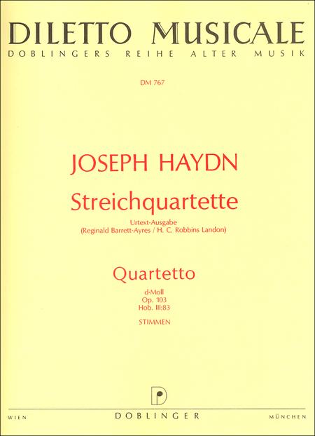 Streichquartett B-Dur op. 103