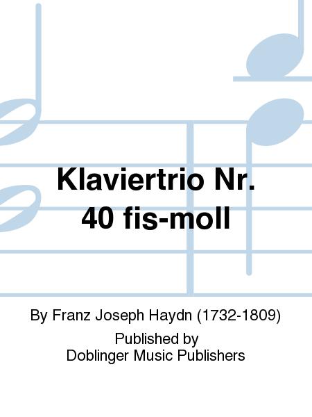 Klaviertrio Nr. 40 fis-moll