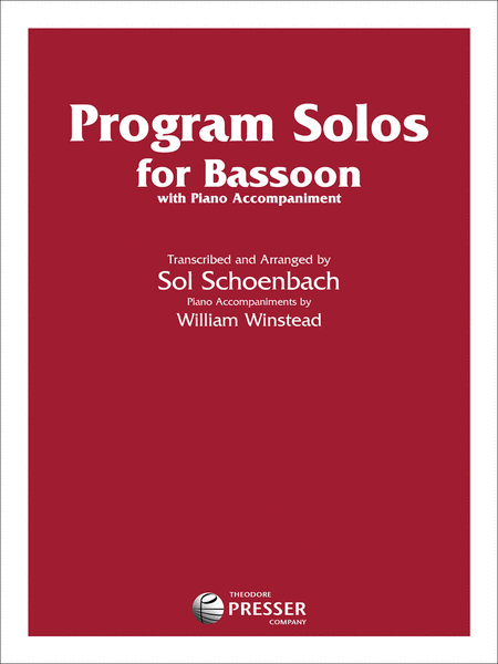 Program Solos for Bassoon