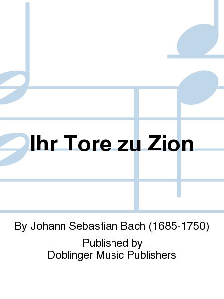 Ihr Tore zu Zion