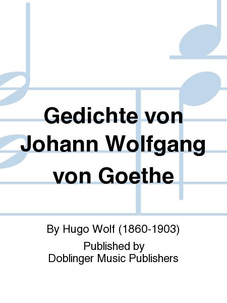 Gedichte von Johann Wolfgang von Goethe