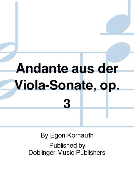Andante aus der Viola-Sonate, op. 3