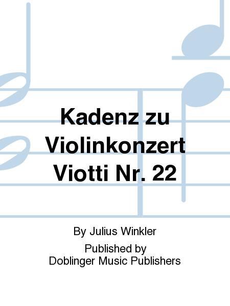 Kadenz zu Violinkonzert Viotti Nr. 22