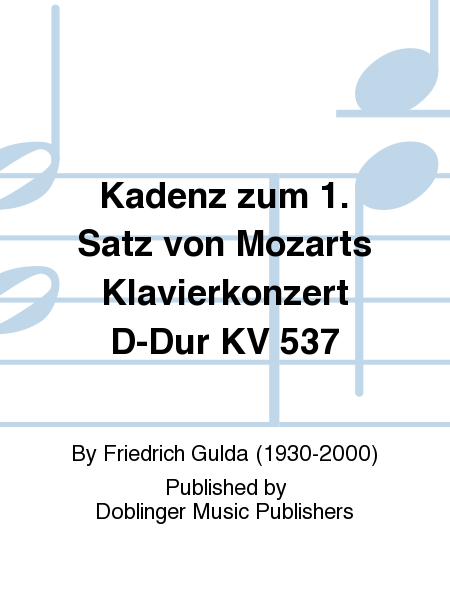 Kadenz zum 1. Satz von Mozarts Klavierkonzert D-Dur KV 537