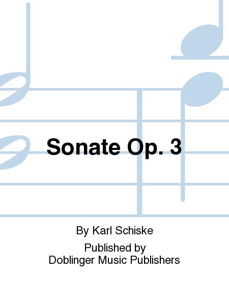 Sonate Op. 3