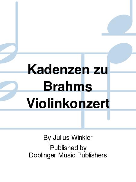 Kadenzen zu Brahms Violinkonzert