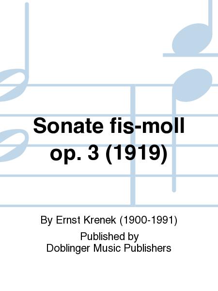 Sonate fis-moll op. 3 (1919)