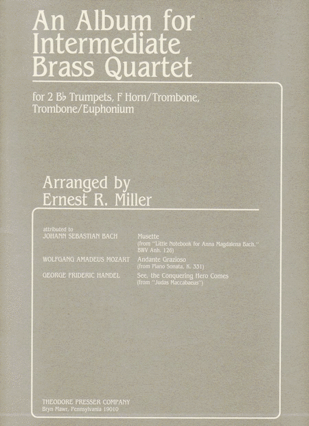 An Album for Intermediate Brass Quartet