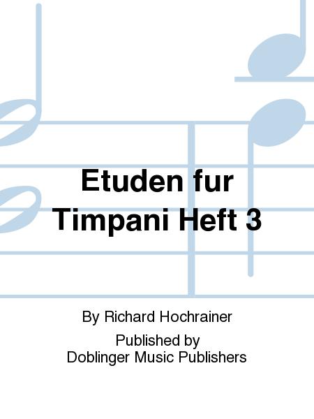 Etuden fur Timpani Heft 3