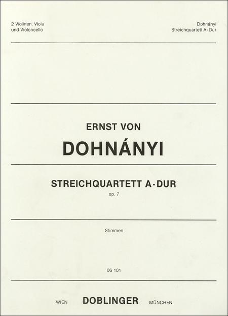 Streichquartett A-Dur op. 7