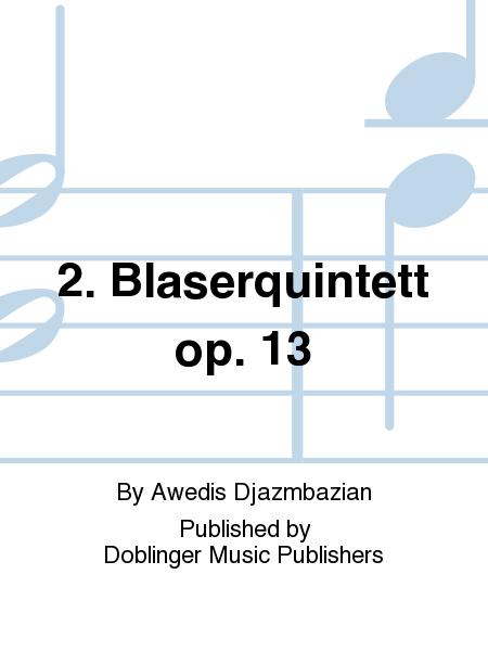 2. Blaserquintett op. 13