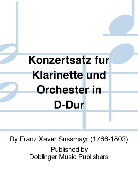 Konzertsatz fur Klarinette und Orchester in D-Dur