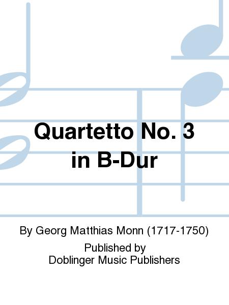 Quartetto No. 3 in B-Dur
