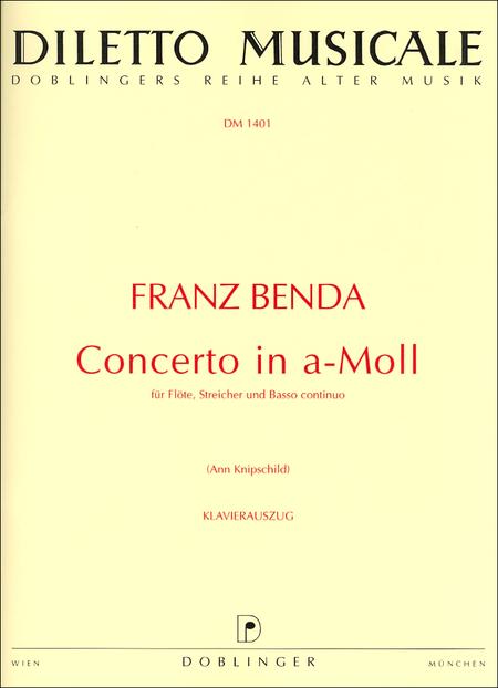 Concerto In A-Moll Fur Flote, Streicher Und B.C.