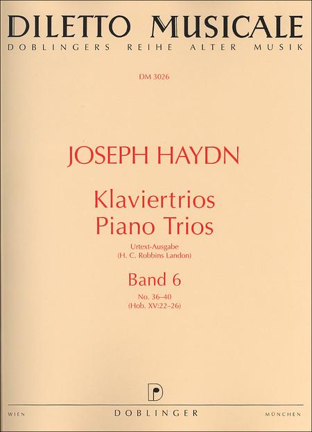 Klaviertrios Band 6 Nr. 36-40