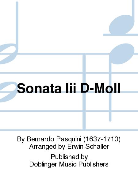 Sonata Iii D-Moll