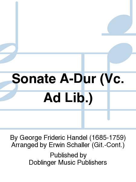 Sonate A-Dur (Vc. Ad Lib.)