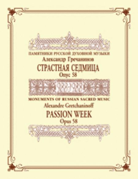 Passion Week, op. 58