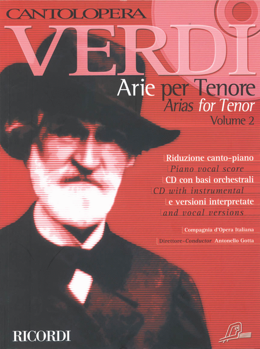 Cantolopera: Verdi Arias for Tenor - Volume 2