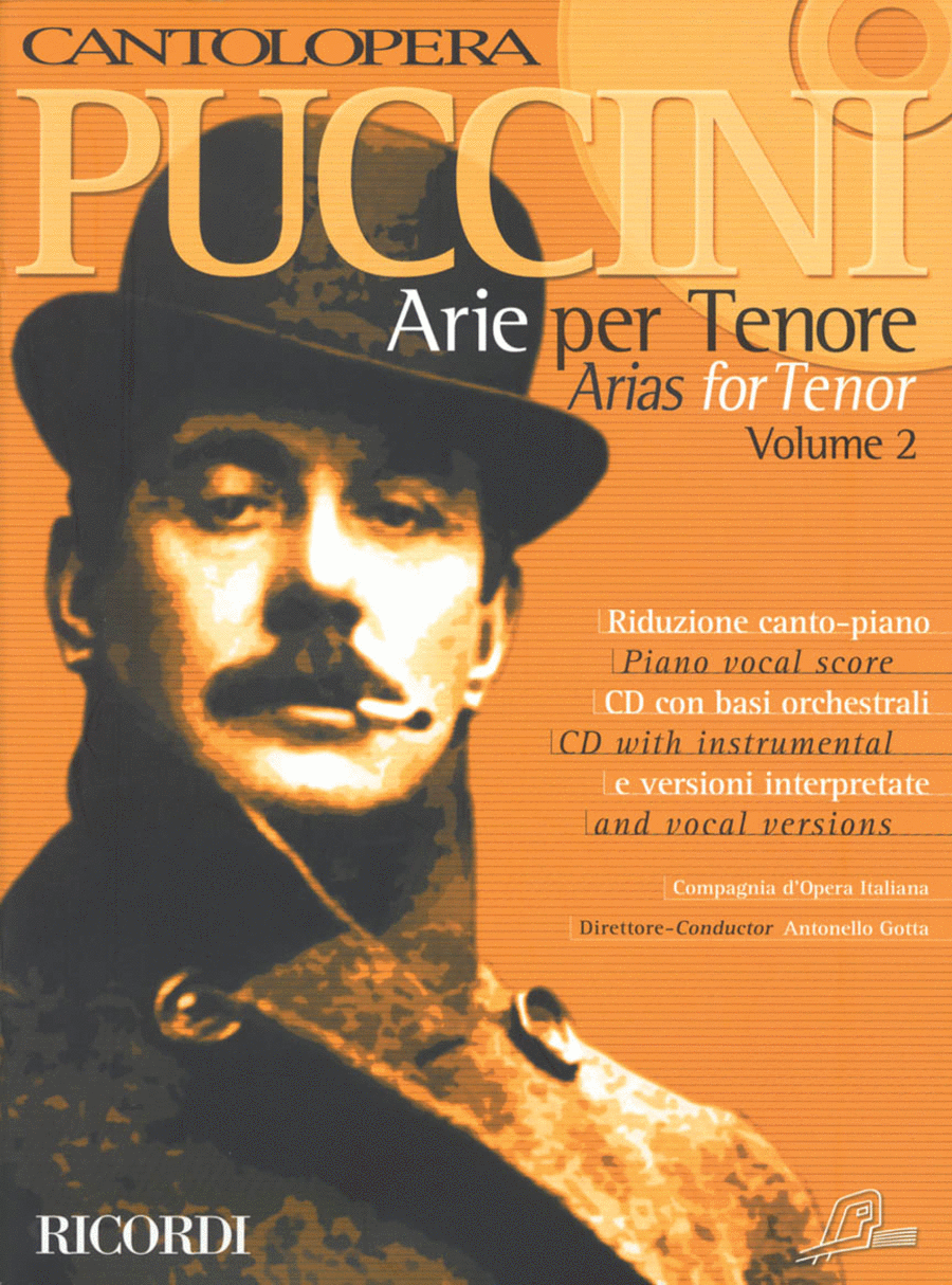 Cantolopera: Puccini Arias for Tenor - Volume 2