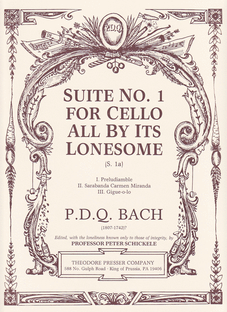 Suite No. 1 for Cello All by Its Lonesome