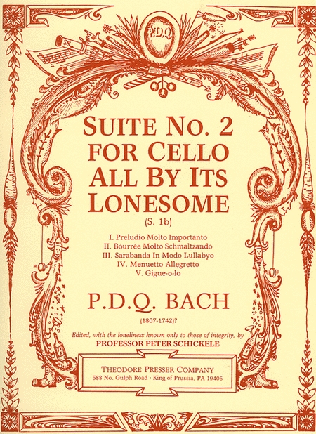 Suite No. 2 For Cello All By Its Lonesome