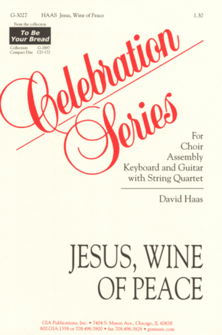 Jesus, Wine of Peace (Instrumental Parts)