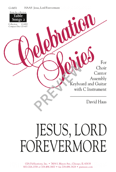 Jesus Lord, Forevermore