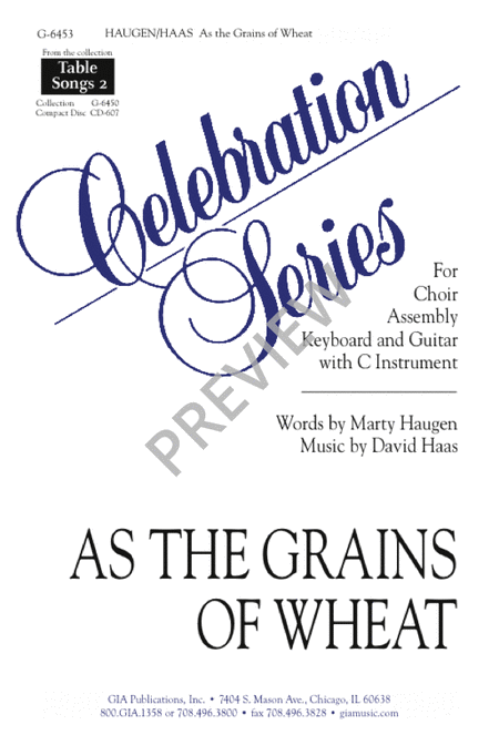 As Grains of Wheat