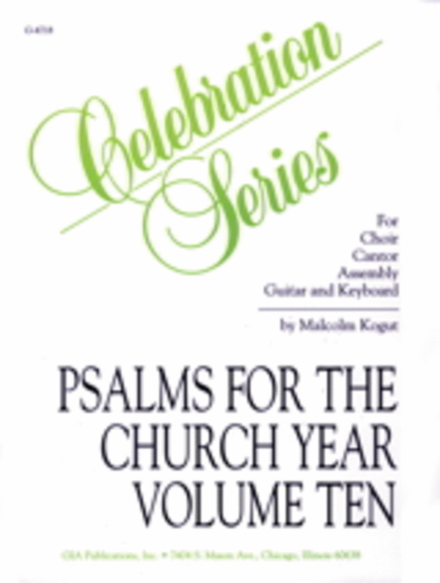 Psalms for the Church Year - Volume 10, Spiral edition