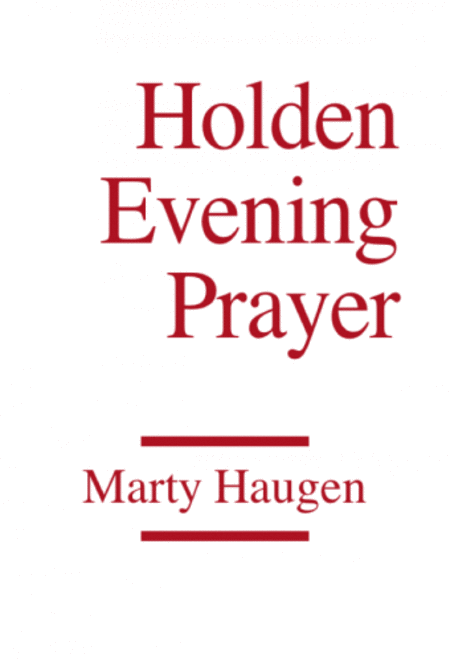 Holden Evening Prayer - Instrument edition