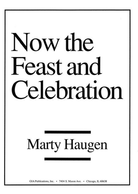 Now the Feast and Celebration - Handbell