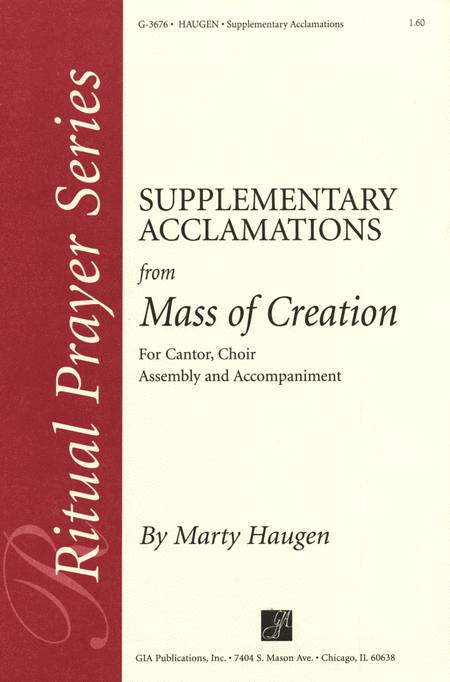 Supplementary Acclamations for Mass of Creation - Brass 4