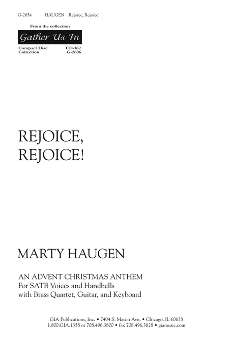 Rejoice, Rejoice (Instrumental Parts)
