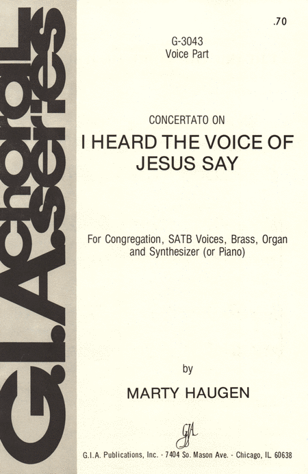 I Heard the Voice of Jesus Say (Instrumental Parts)